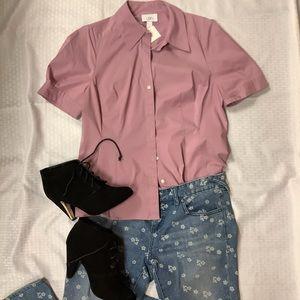 Loft Lilac Short Sleeve Blouse
